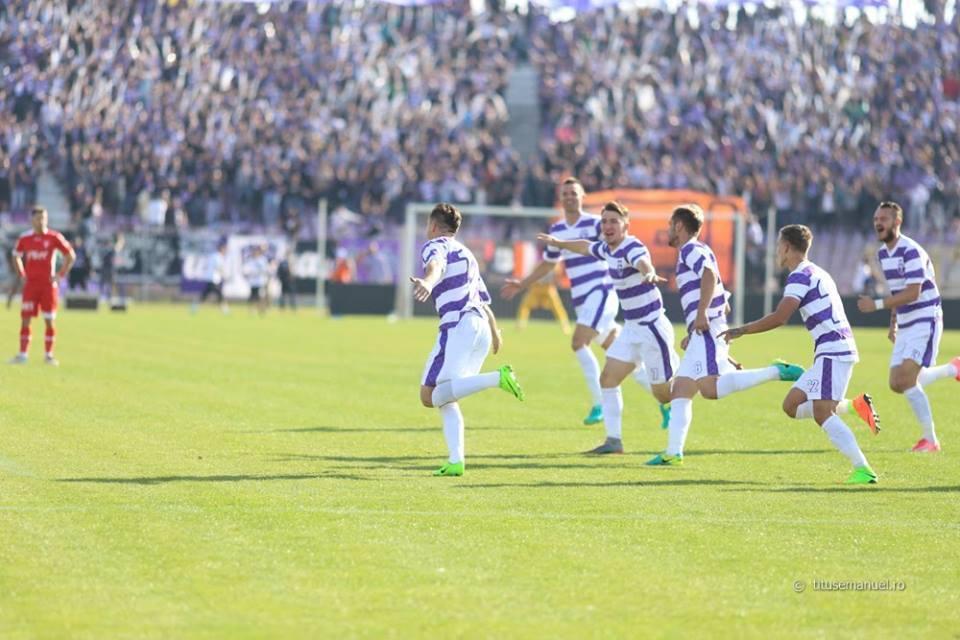Ce poate fi mai frumos decât un gol în poarta UTA-ei? La 15 octombrie, Cornel Predescu deschidea scorul în minutul 3 al unui derby memorabil cu UTA.